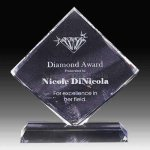Diamond Shape Crystal Crystal Awards | Crystal Trophies