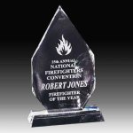 Crystal Flame Award Crystal Awards | Crystal Trophies